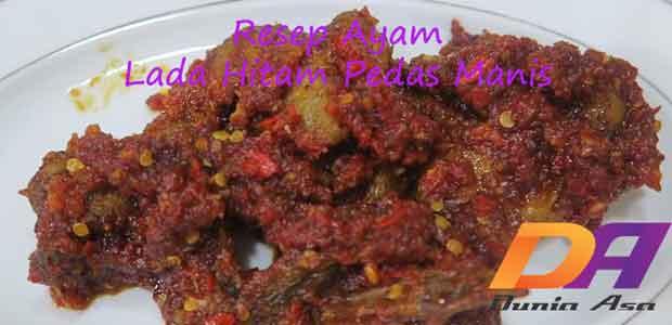 resep ayam lada hitam pedas manis