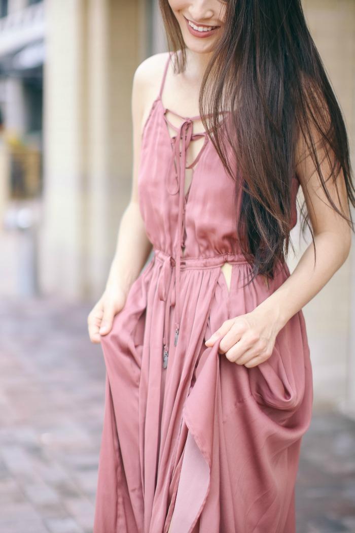 blush maxi dresses