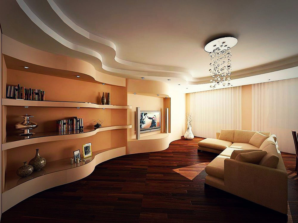 New gypsum ceiling design for living room 2019 - Latest ceiling design for living room ...