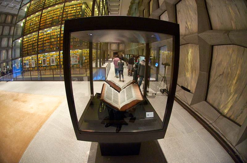 Beinecke Rare Book Library, Two volumes of original Gutenberg Bibles