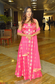 Sindhu Shivarama in Pink Ethnic Anarkali Dress 25.JPG