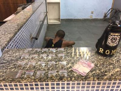 ROMU Jandira -Adolescente é detido por venda de drogas