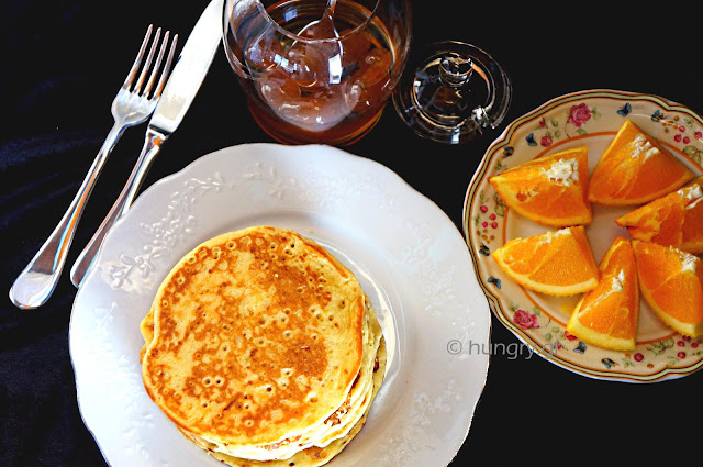 Πανκέικς με Πορτοκάλι και Ανθότυρο