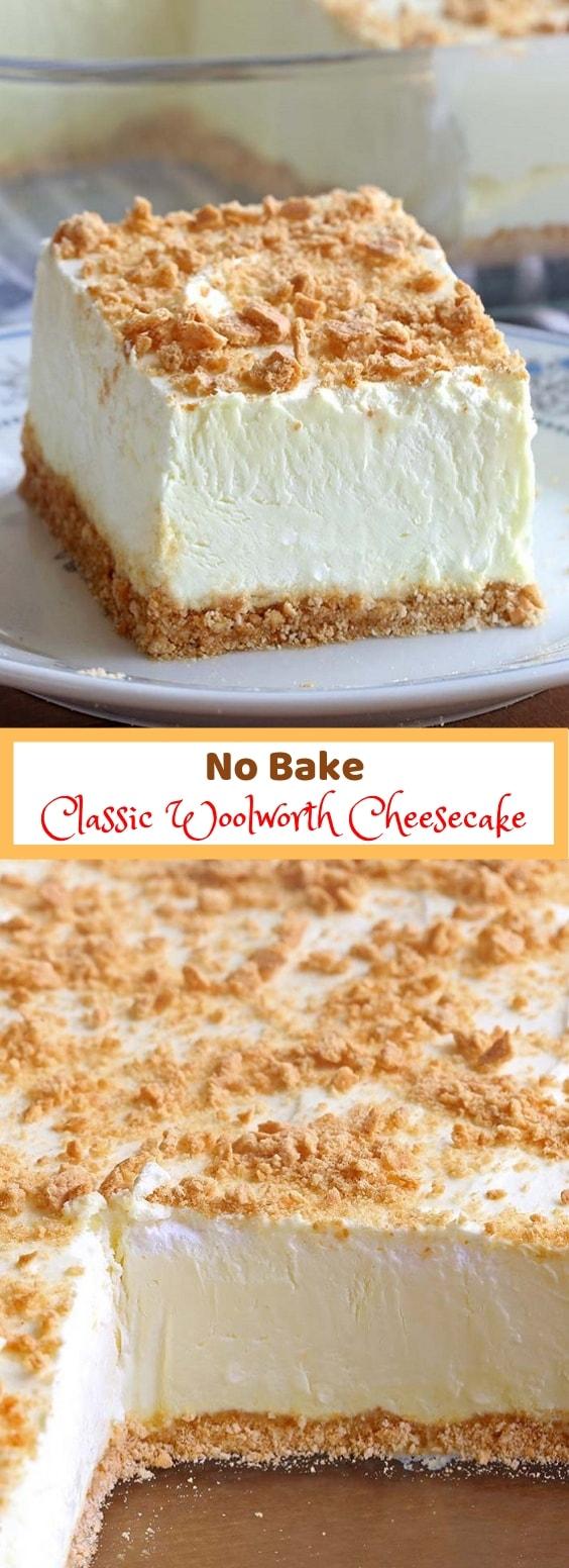 No Bake Classic Woolworth Cheesecake