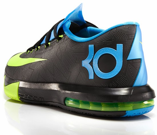 b57248dd55fa ... Black Volt-Vivid Blue-Dark Grey January 2014. The first colorway of the Nike  KD VI set to drop in 2014.