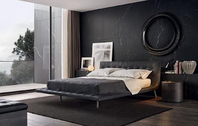 ห้องนอนธีมสีดำ