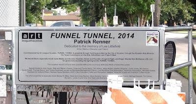 Funnel Tunnel 2014 Patrick Renner - Public Art Project in Montrose (interpretive tablet)