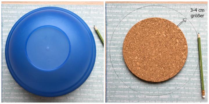 DIY-Tutorial | Pinnwand aus Kork und Stoff (ohne Kleber oder Tacker)