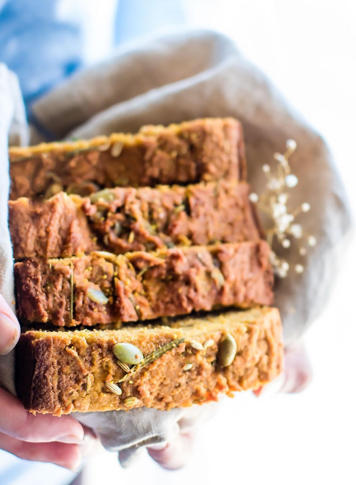 Rosemary Paleo Pumpkin Bread