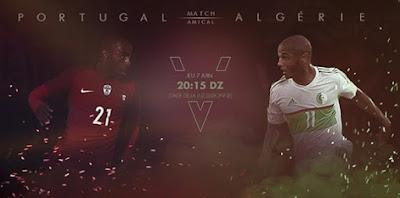القنوات الناقلة للقاء الودي بين البرتغال الجزائر