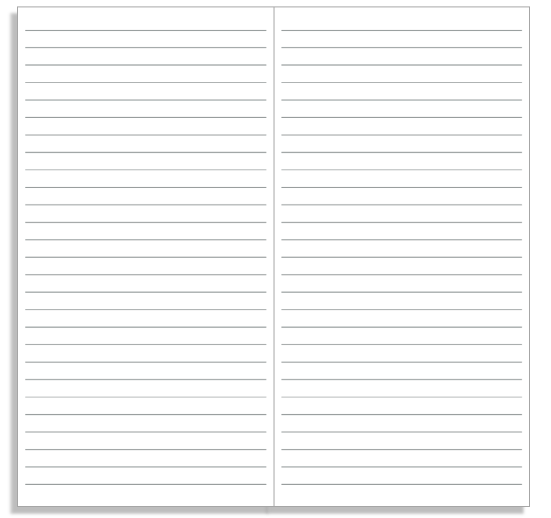 My Life All In One Place: Print Basic Ruled And Grid