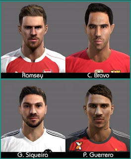 Faces 2016, Claudio Bravo, Guerrero, Ramsey, Siqueira, Pes 2013.