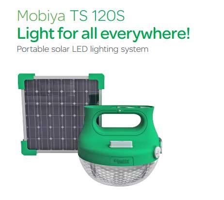 MOBIYA TS120S Lampu Tenaga Surya Dari Schneider Electric