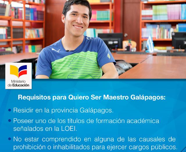 Quiero Ser Maestro Galápagos 2018 2017