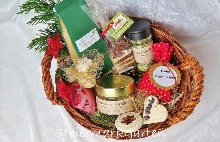 Geschenkkorb-Kräuterprodukte-Weihnachten-Steiermarkgarten