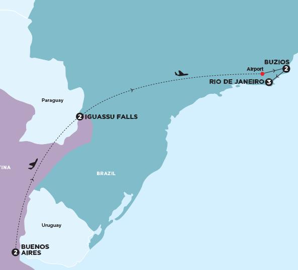 Wanderlust Chloe - Chloe Gunning - South American Adventure Map