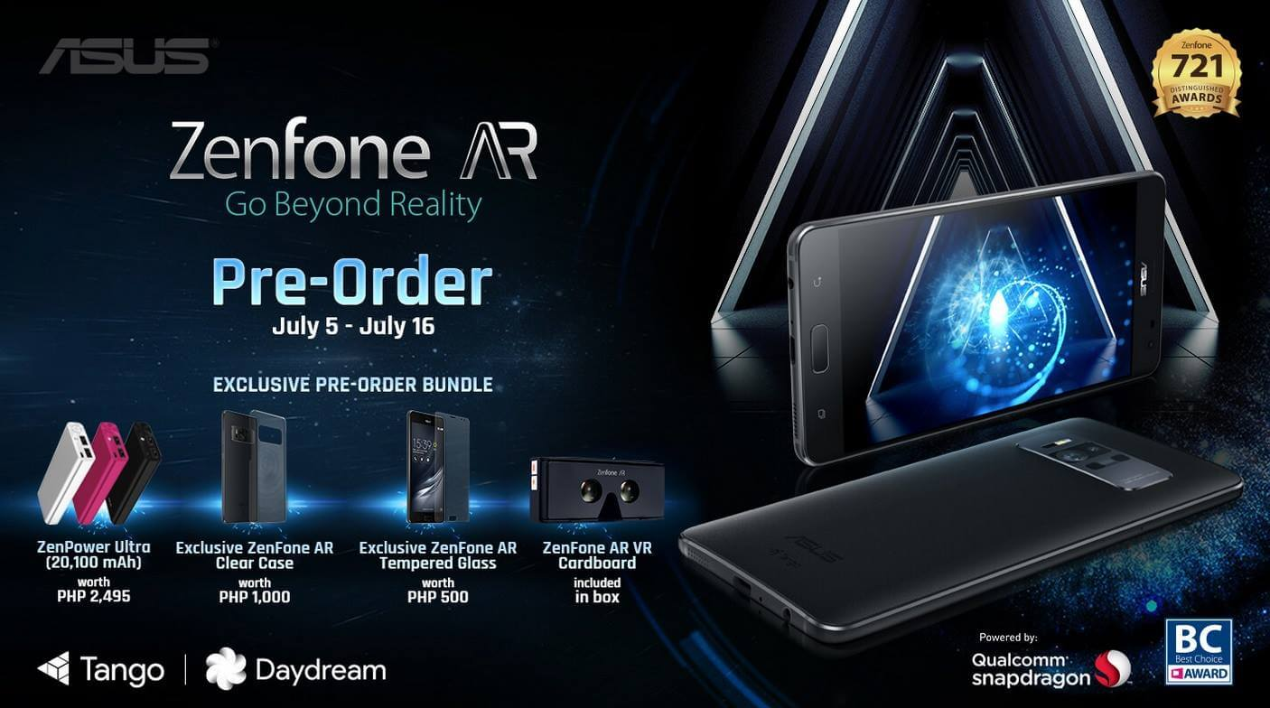 Asus ZenFone AR Starts Pre-Order with Lots of Freebies