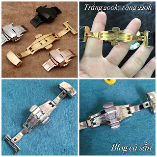 khóa bấm chống gay dây da đồng hồ