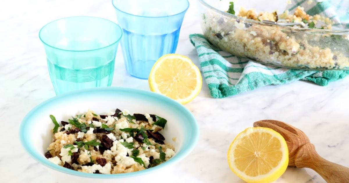 Mangiare greco cucina greca con tutte le ricette tipiche insalata di bulgur con melanzane e feta - A tavola con guy ricette ...
