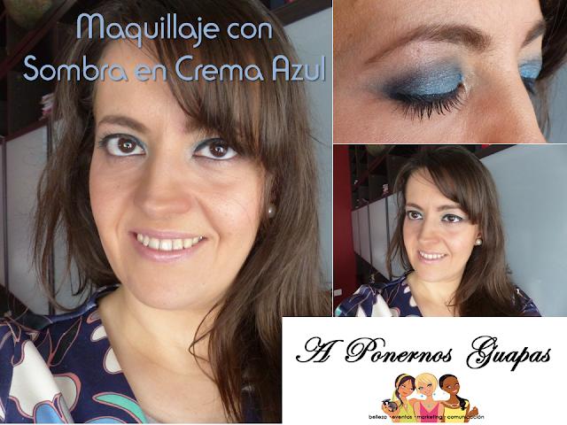 Maquillaje sombras en crema en azul Oriflame