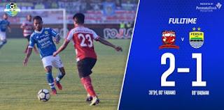 Madura United vs Persib Bandung 2-1 Hasil Liga 1 Jumat 4 Mei 2018.