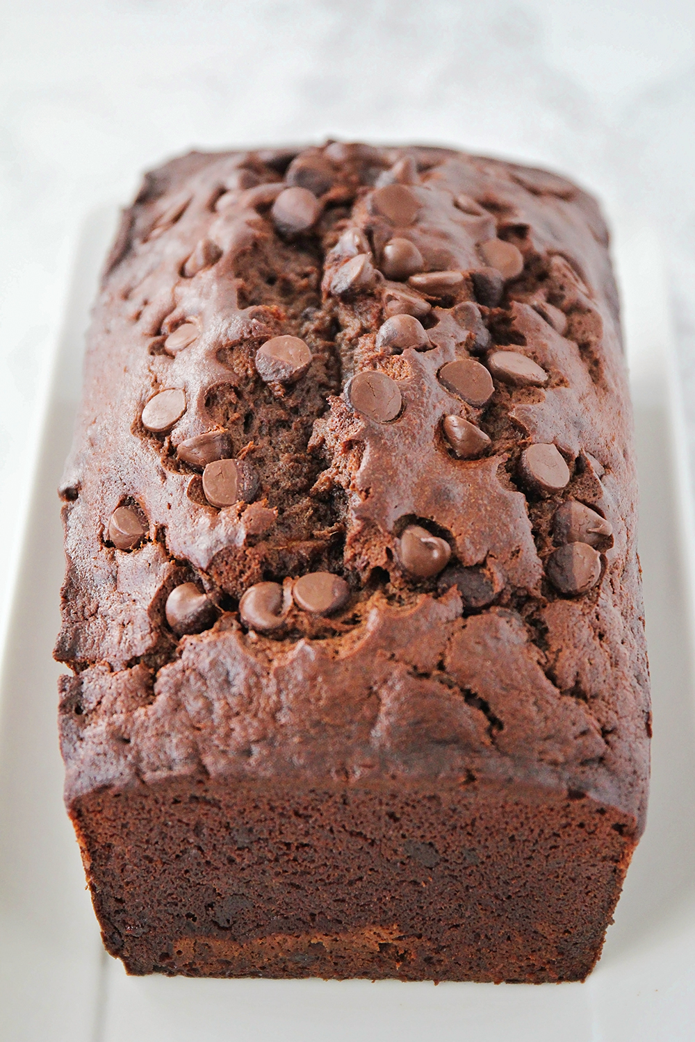 This rich and delicious chocolate banana bread has the perfect soft texture!
