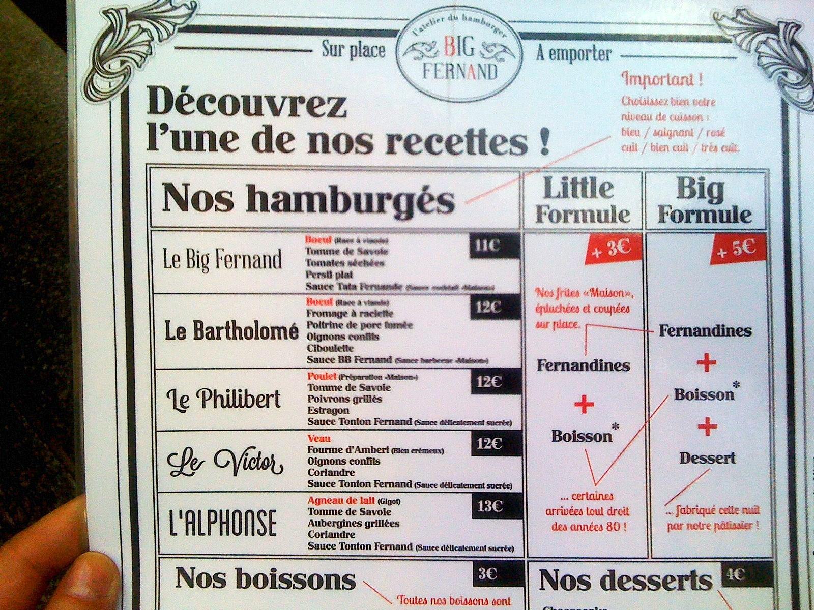 Connu Mes Adresses : Big Fernand, le burger en VF - 32, rue Saint  PG21
