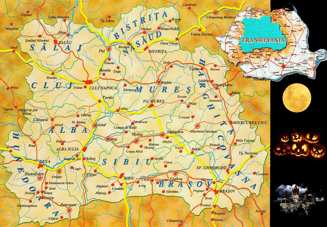 Map of Transylvania