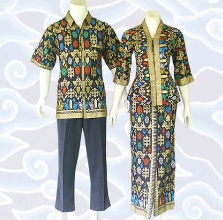 contoh model baju batik couple trendy