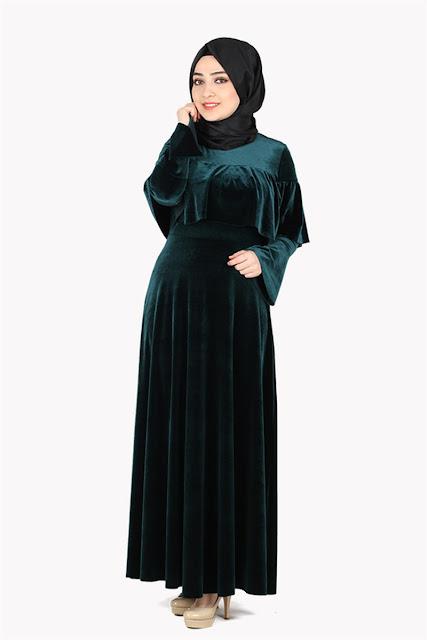 Yeni sezon kadife elbise