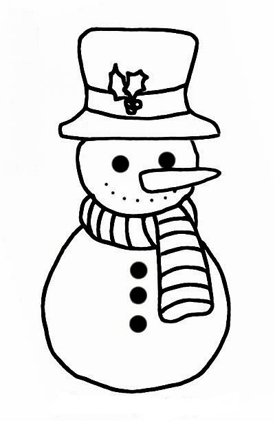 christmas girl snowman coloring pages - photo#33