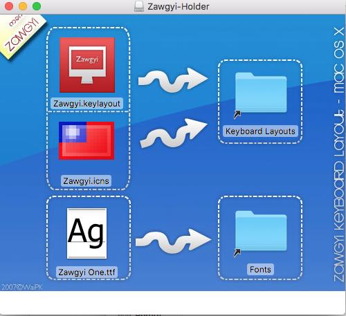 zawgyi font installer for mac