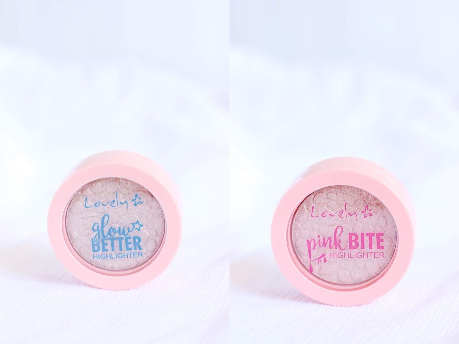 lovely rozświetlacz tafla różowy lovely glow better pink bite