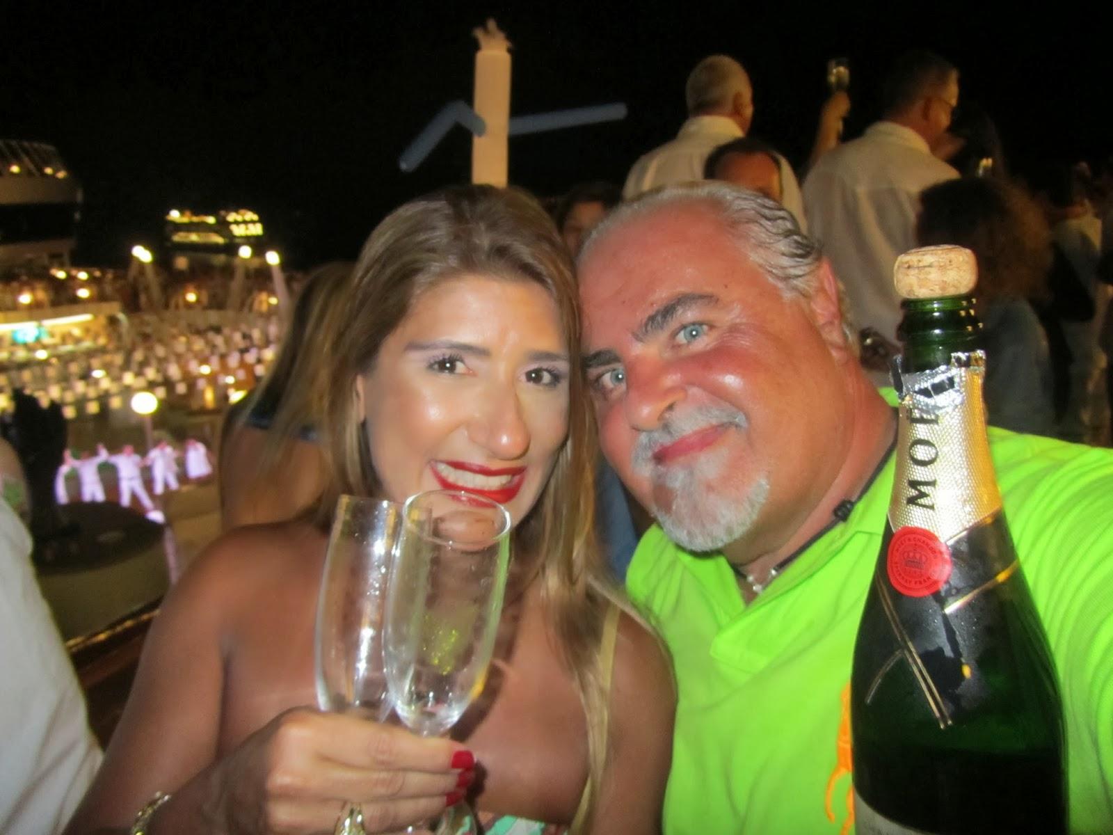 ed1ebef2fc Jo e Tadeu Ribeiro virada navio Copacabana Foto divulgação
