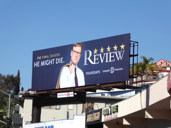 Andy Daly Review season 3 billboard