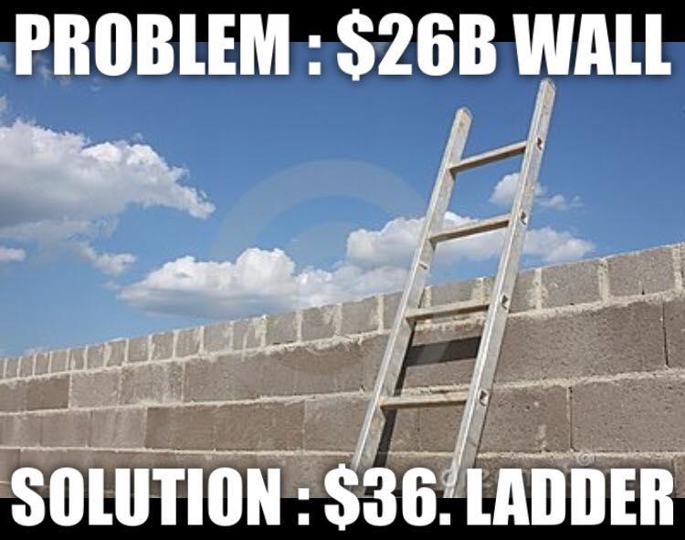 Build Border Wall Sarcastic