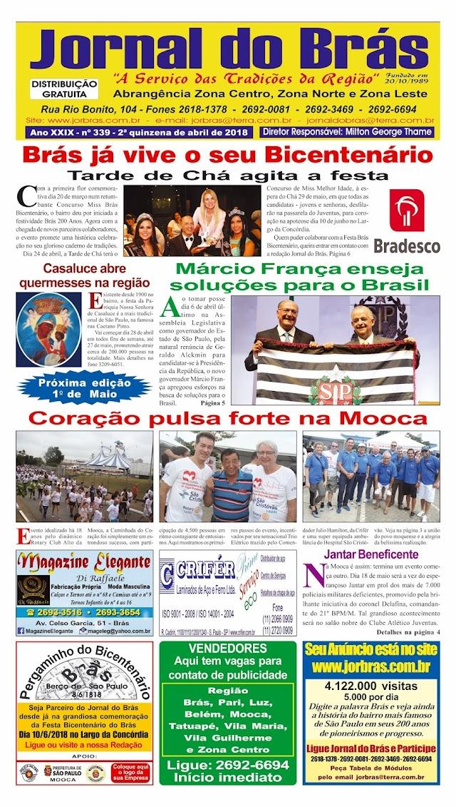 Destaques da Ed. 339 - Jornal do Brás