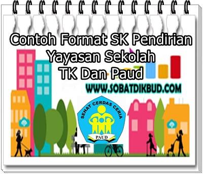 Contoh Format SK Pendirian Yayasan Sekolah TK Dan Paud