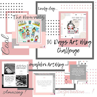 30 days art blog challenge by ewafebri