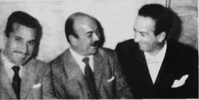 Alfredo Belussi, Jose Basso y Floreal Ruiz en 1957
