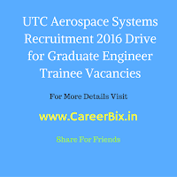 UTC Aerospace Systems Recruitment 2016 Drive for Graduate Engineer Trainee Vacancies GET over India for BE/ B. Tech in Mechanical and for Aerospace Engineering candidates in May-2016