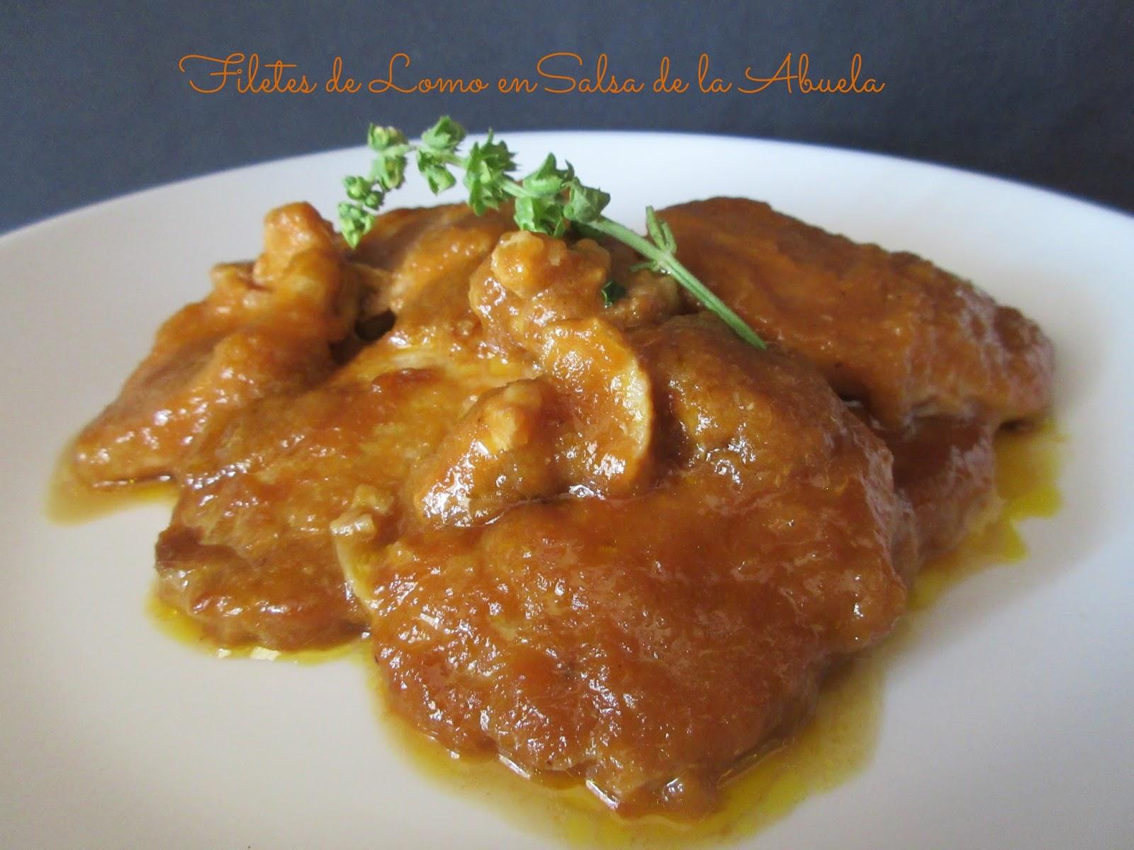 Cocinar Filetes De Lomo | Filetes De Lomo En Salsa De La Abuela Lavueltaalcolets Cocina Con