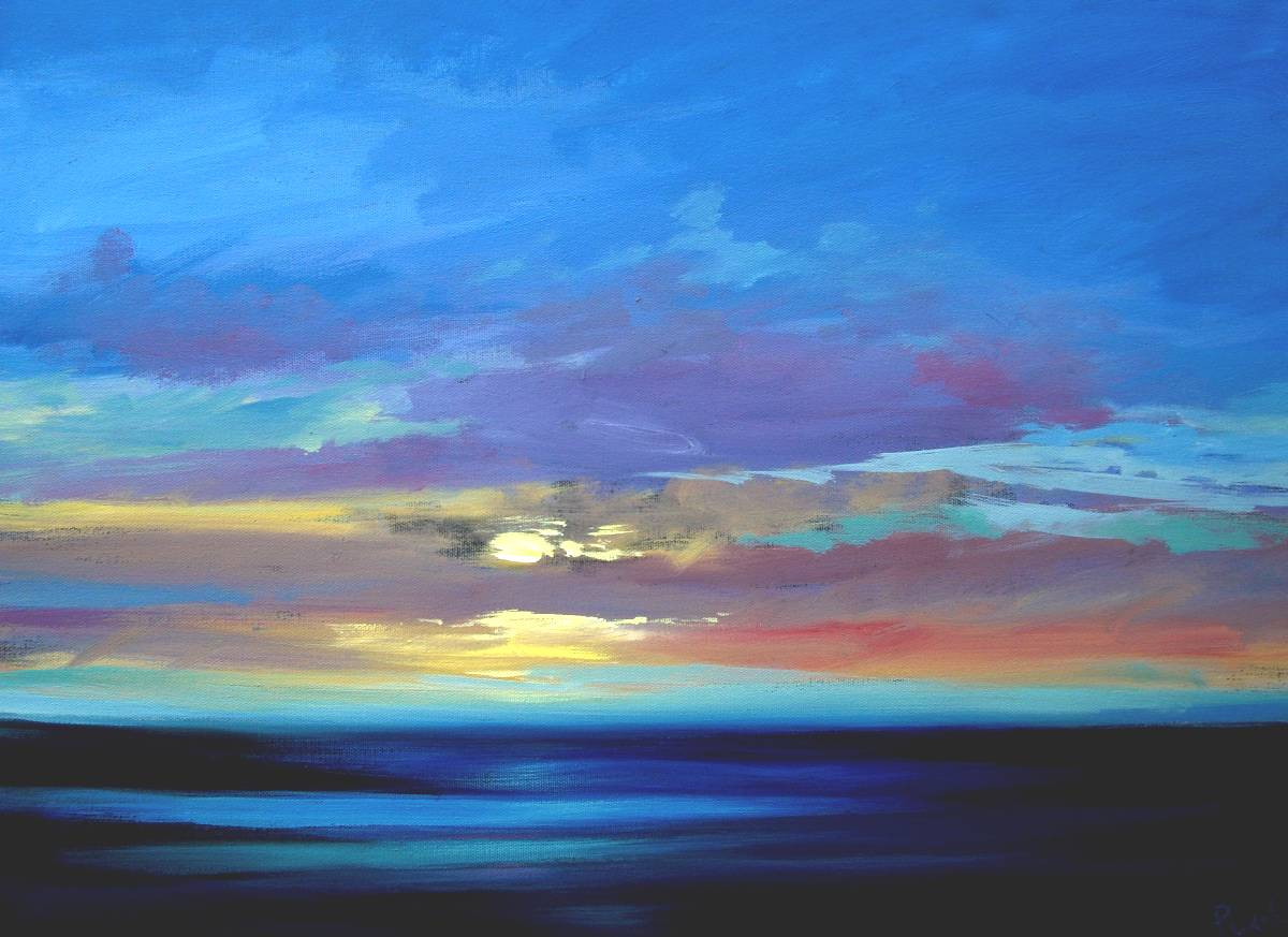 Simple Paintings of Sun Sets