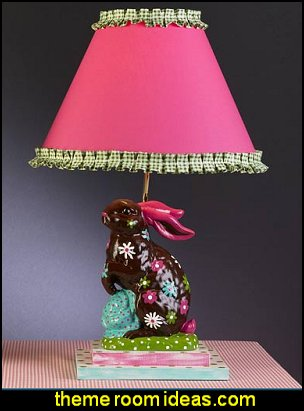 Chocolate Flower Bunny Lamp  Hipster decorating style - hipster decor - Hipster wall art - Hipster room decor - Hipster bedding - urban decor - retro decor - vintage cool decor - Steampunk - hipster bedroom ideas - Hipster home decor -   Hipster gifts - Marquee signs - hipster style quirky fun decor - hipster bedroom decorating ideas - hipster room ideas for guys