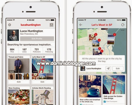 Pinterest gratis para telefonos iPhone