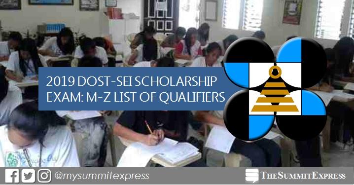 M-Z Passers: DOST Scholarship Exam Result 2019
