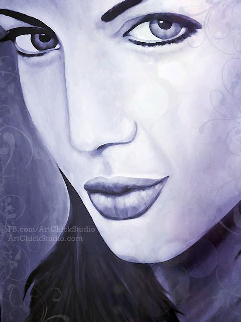 Angelina Jolie Digital Art