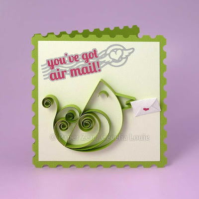 Paper Quilling a Bird Tutorial and Pattern - Greeting Card