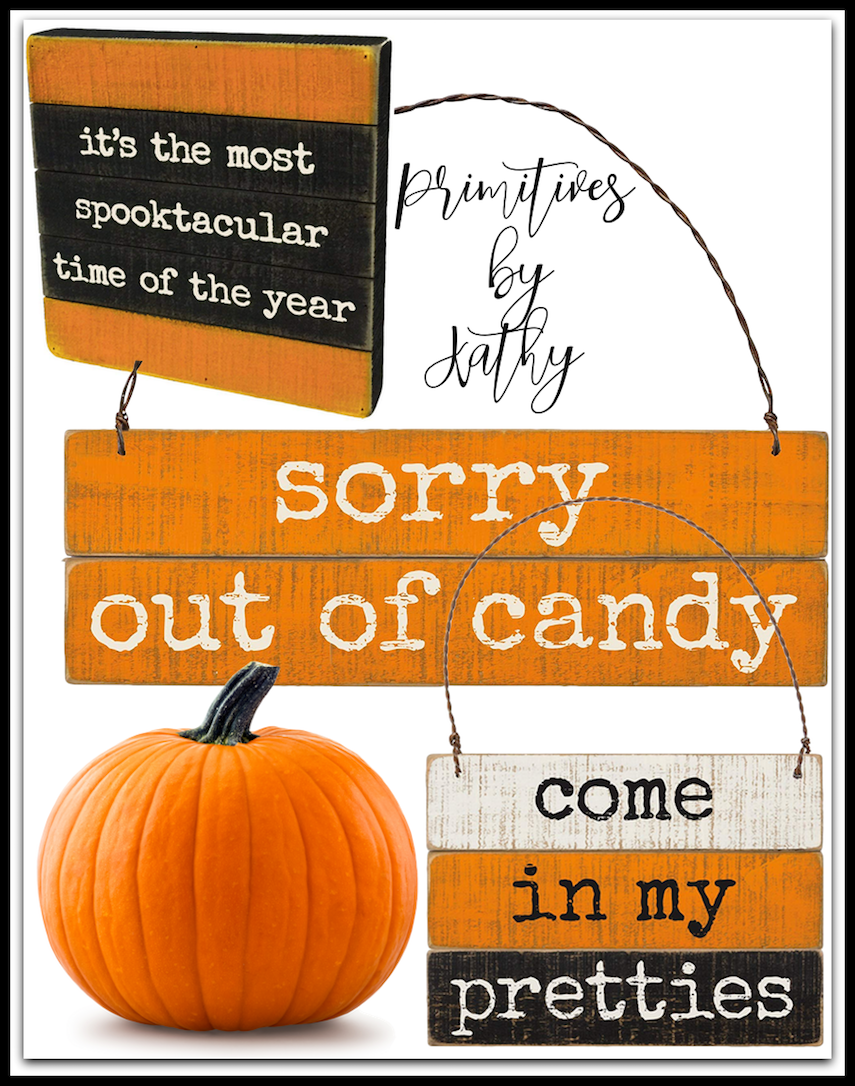Primitives by Kathy Assorted Halloween Signs (each sold separately)