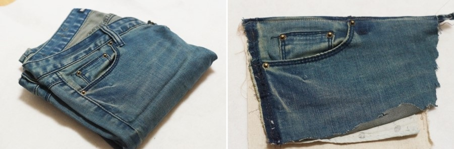 Tutorial: Recycled jeans messenger bag with Zipper. Idea to sew!